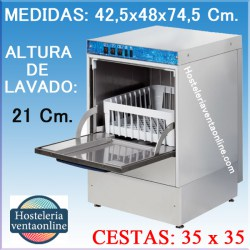 Lavavasos Industrial Arisco Cesta 35x35