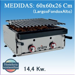 Barbacoa Parrilla a gas Arilex 60 bar