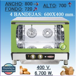 Horno electrico CONBEQ conveccion AMBER TURBO ECO