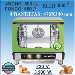 Horno electrico CONBEQ conveccion QUARTZ TURBO ECO