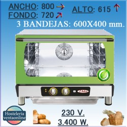 Horno electrico CONBEQ conveccion ZAFIRO TURBO ECO